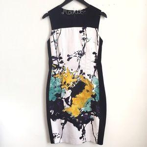 🛍•T TAHARI• Watercolor Sheath Dress